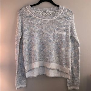 FREE PEOPLE MULTICOLORED KNIT SWEATER